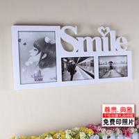 Desktop letter box Smile style photo frame live photo frame decoration box decoration picture frame white combo