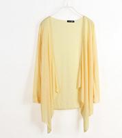The new 2014 transparent sunscreen sweater dress ultra-thin short coat free shipping
