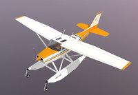 Skyhawk Cessna 172 seaplane 3D paper model DIY manual