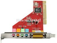 Free shipping 10 pcs/lot PC 4 Channel MIDI GAME port 3D Audio PCI Sound Card