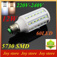 12W,5730 SMD,LED Lamps Bulb,E27 B22 E14,220V,230V,240V,Cold White/Warm white,60 LED,Corn Light Bulb,Ultra bright spot lights
