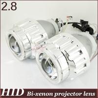 2.8'' inch  HID Bi-xenon Projector Lens  Angel Eye high low beam H4h/l H1h/l H7h/l 9005h/l 9006h/l 4300k 6000k 8000k devil eyes
