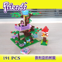 Bela Building Blocks Friends Olivia's Tree House Construction Sets Educational Bricks Toys for Girls Model Building Gift