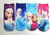Wholesale hot sale 2014 new baby cotton frozen princess socks Cute Girls Children's sock kids cartoon Frozen socks baby girls