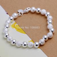HOT SALE H084 Fashion 925 Sterling Silver Lady Cute Ball Bracelet Chain,Top Quality Jewelry Bracelet