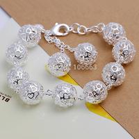 HOT SALE H088 Fashion 925 Sterling Silver Lady Sweet Ball Bracelet Chain,Top Quality Jewelry Bracelet