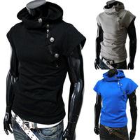 Hot-selling 2014 with a hood slim male short-sleeve sweatshirt 5516 p40
