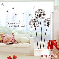 Beautiful Dandelion Sofa TV wall decoration fashion wall stickers personalized fashion wall stickers wallpaper 120*130CM