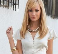 2 Broke Girls Caroline inspired Faux Pearl pendant Gold Chain necklace  pendant
