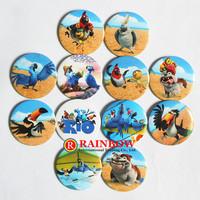 4.5cm Movie Rio 2 tin badge Novelty Cartoon Backpack Decorations Clothing Accessories Kid Gift Pin Badge 48PCS Free Shipping
