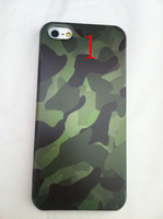 Luminous camouflage case Camouflage Pattern Bowknot Tower Brands Screen Protective Film Skin For Apple iPhone 5 5S Front