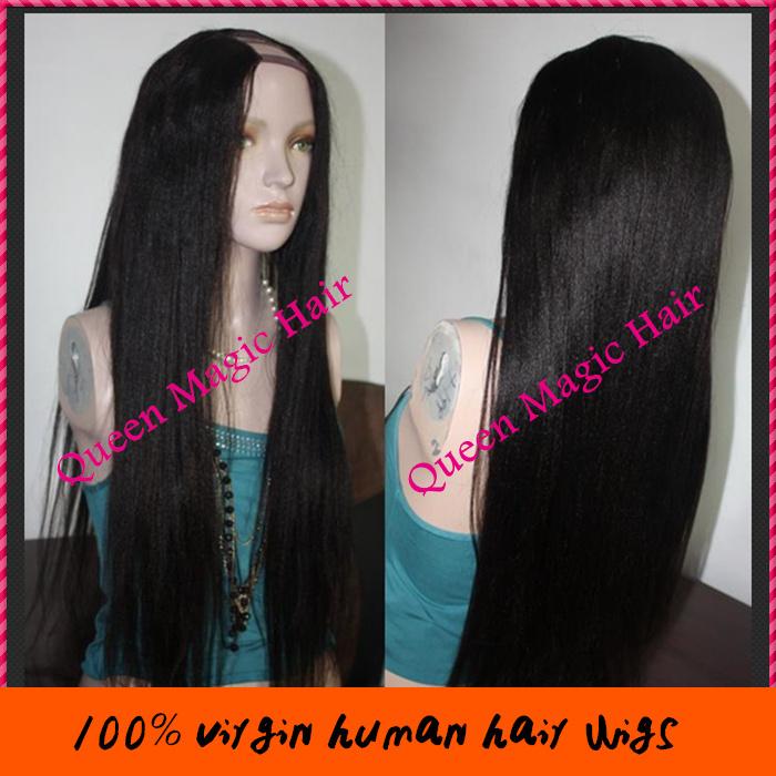 Malaysian Straight Hair Side Part u Part Wig Malaysian Hair