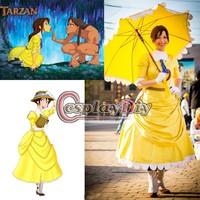 Free Shipping Customized Tarzan Jane Dress Cosplay Dress NO Umbrella and Boots