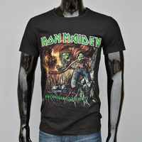 Free Shipping! Men's 3D T-Shirts,Men's Short Sleeve 3D T-Shirt, 100% Cotton, Skull Series Printed 3D T-Shirt, Iron Maiden