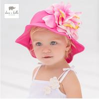 2014 summer new cotton baby girls sun hat travel