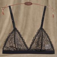 Full transparent   perspective sexy temptation women's single-bra triangle cup bikini underwear paragraph wireless bra  14051305