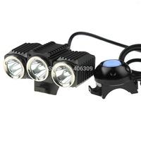 Trustfire TR-D012 Farol bike Light 3*CREE XML-L2 3000LM 4-Modes LED Bicycle Bike Set With Waterproof 4x18650 Battery Pack