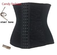 Wais cinchers -2014 hot sales Spiral steel boned lace decoraated waist cincher body shapersSize S-2XLMOQ 1pc