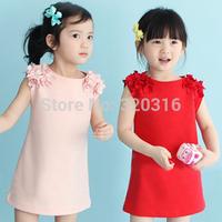 2014 Korean version of the new summer flowers ladies Girls sleeveless dress vest skirt child qz-0376 (CC091A)
