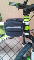 Free Shipping Bike Saddle Bicycle Front Tube Bag Pouch Cycling Frame Pannier 2 sides Pack