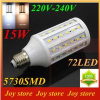 15W,5730 SMD,LED Lamps Bulb,E27 B22 E14,110V,120V,Cold White/Warm white,72 LED,Corn Light Bulb,Ultra bright spot lights