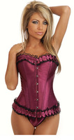 2014 Free Shipping CL4056 Sexy Woman Bustier Corset Slimming Overbust Bustiers Spandex Nylon Sexy Corsets for Womens for Sale