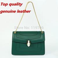 Top Quality Women's Famous Brand Designer Genuine Leather Handbags Serpenti Buckle Chain Shoulder Bags Classical Vintage Bolsas