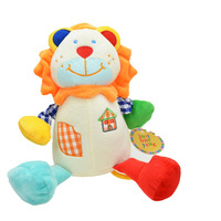 Carters Grid baby plush pull string musical toy - beige Lion