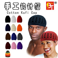 b45 New 2014 fashion women and men warm Handmade hook needle cap mesh casual hats knitted hat cotton kufi caps Free shipping