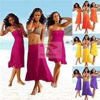 2014 Summer New Women's 3 Wear Styles Chest Wrapped  Beach Dress DM-VB004