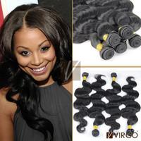 Peruvian Virgin Hair Body Wave Natural 1B# 4 Pieces Lot Rosa Hair Products 100% Human Unprocessed Virgin Peruvian Hair Extension