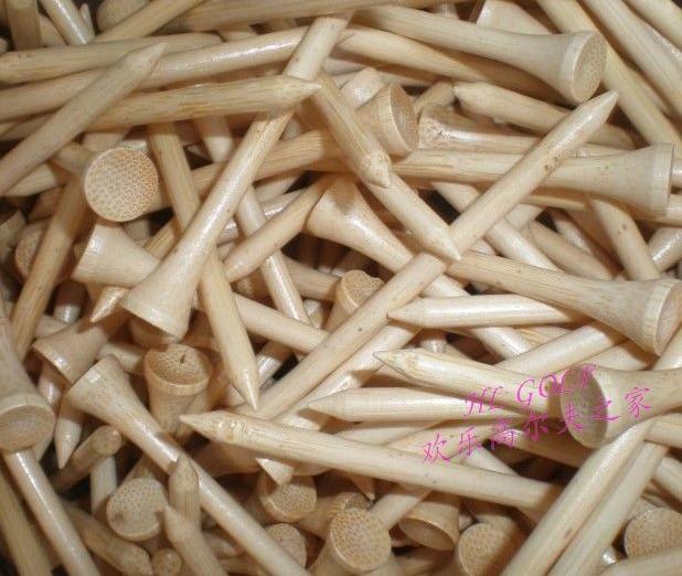 50pcs/lot 54mm golf tee wholesale network golf ball tee ball bulk bamboo nail bamboo tees ball single tee new hot(China (Mainland))