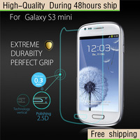 High Quality Scratch Resist Tempered Glass Screen Protector For Samsung Galaxy S3 mini I8190 Free Shipping DHL HKPAM CPAM