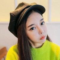 Yzstyle full leather octagonal cap fashion cap summer beret newsboy cap