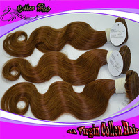 "6A Queen hair Hair new arrival, brazilian human hair brown color 4 weft extensions12""-30"" mixed length 3pcs lot  Body Wave"