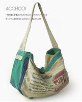 Japan Style High quality Canvas backpack thickening high quality canvas bag casual bag letter unisex bag ome bag messenger bag