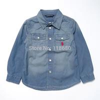 new 2014 spring autumn baby & kids clothes Child 100% cotton denim shirt Casual girls blouse baby boy's shirt children outerwear