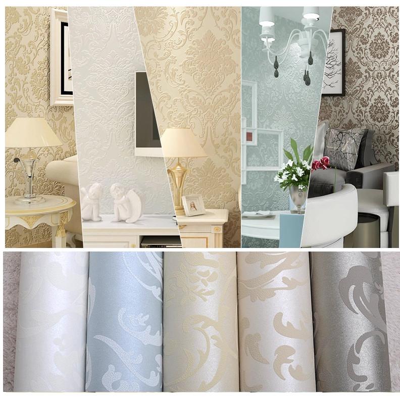 Online kopen wholesale metallic behang uit china metallic - Papeles de pared modernos ...
