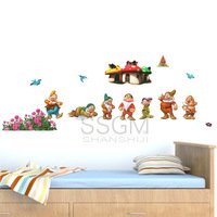 Vinyl Removable Wall Sticker Decal Home Decors Snow White 7 Seven Dwarfs Kids Removable Wall Window Sticker Decor Decal Home
