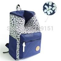 Casual canvas backpack fresh backpack student school bag canvas patchwork large capacity travel bag girl's smart school bag