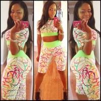 new 2014 summer sexy hot  body piece print  fashion set