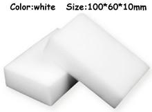 100 pcs/lot Wholesale White Magic Sponge Eraser Melamine Cleaner,multi-functional Cleaning 100x60x10mm Free Shipping(China (Mainland))