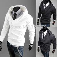 Hot Men's Hoodies,High collar coat arrival top brand men's jackets,Multi-zipper design, hooded cardigan, sportsman sweater