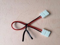 strip conector with 15cm long wire,10mm for 5050 SMD led single color strip;no need soldering