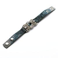 new fashion 2014 ribbon green gem water drop bracelets & bangles high quality crystal rhinestone chain bracelets for women