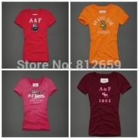 wholesale cheap 2014 new 100% cotton womens t shirt famous brand women new fashion 2014 summer spring t shirts free shipping