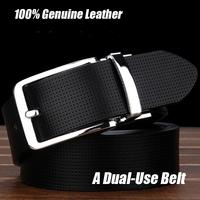 2014 Free shipping Men's fashion cowhide genuine leather brief belt male strap Fashion Shape Metal men belt Ceinture Buckle YD23