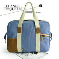 Canvas handbag bags color block bag fashion canvas man bag unisex casual canvas bag handbag students school bag cool canvas bag