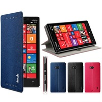 Imak happy series waterproof side flip stand leather case for Nokia Lumia 930 Nokia Martini / Nokia Lumia Icon Lumia 929