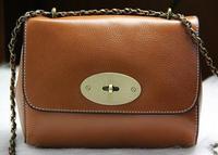2014 New women's genuine leather Messenger bags  women shoulder bags lady small chain bags women handbags